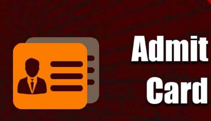Download Admit Card For Examination