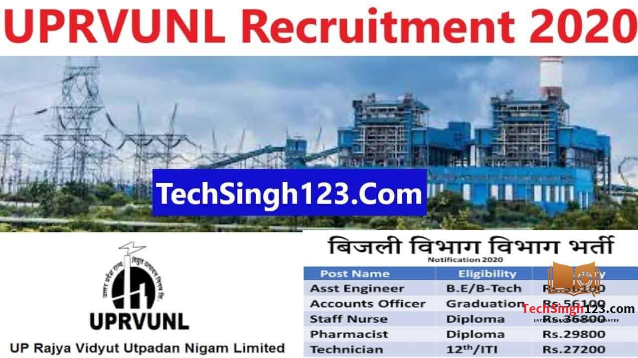 UPRVUNL Recruitment 2020-2021 ✅ उत्तर प्रदेश विद्युत उत्पादन निगम