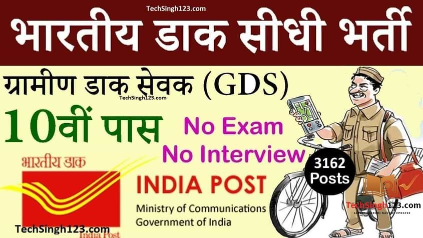 TN Post Office Recruitment तमिलनाडु डाक विभाग भर्ती
